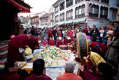 Puja ceremony in Boudhanath, Nepal