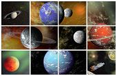 Multiple View Of The Universe With Planets
