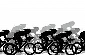 A Group Of Cyclists Run A Competition