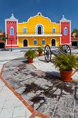 stock photo of hacienda  - Mexican hacienda in the Mayan Riviera Yucatan - JPG