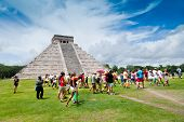 Tourists Visiting The Chichen Itza Site