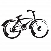 bike. freehand drawing. black and white vector