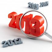 new 2013 year under magnification and other years