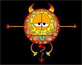 Cartoon Devil Weedy