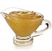 Mustard dish sauce  isolated on white background