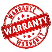 Warranty vector stamp