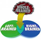 Are you left or right brained or is neither side dominant?  The answer is illustrated by this venn d