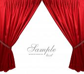 pic of stage decoration  - Red theater curtain background - JPG