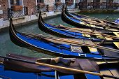 Group Of Venice Gondolas