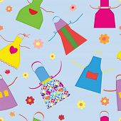 Aprons kitchen seamless pattern funny design