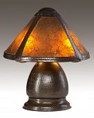 picture of mica  - Table Lamp with Mica Shade and Copper Base - JPG