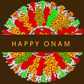 foto of onam festival  - South Indian festival Onam wishes background - JPG