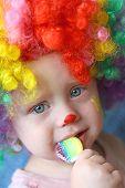 Clown Baby With Sucker