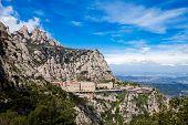 Kloster Montserrat in der Nähe von Barcelona, Katalonien, Spanien.