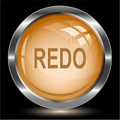 Redo. Internet button. Raster illustration.