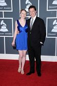 Stephen Colbert and daughter at the 52nd Annual Grammy Awards - Arrivals, Staples Center, Los Angele