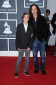 Kenny G and son at the 52nd Annual Grammy Awards - Arrivals, Staples Center, Los Angeles, CA. 01-31-