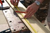 Measuring Wood Before Cutting
