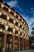 Plaza de toros (Bullfighting palace) in Zaragoza Spain