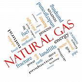 Natural Gas Word Cloud Concept Angled