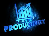 foto of productivity  - Productivity with Growth Chart  - JPG