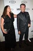 Keely Shaye Smith and Pierce Brosnan at the Tod's Beverly Hills Boutique Opening Celebration, Tod's