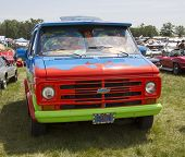 1974 Chevy Scooby Doo Mystery Machine Van Front View