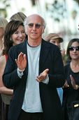 Larry David at the induction ceremony for Mary Steenburgen into the  Hollywood Walk of Fame, Hollywo