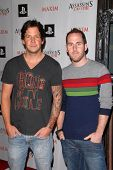 Chuck Comeau and Pierre Bouvier of