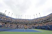 Bob and Mike Bryan at Arthur Ashe Stadium during US Open third round doubles match at Billie Jean Ki