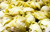 Chinese Cabbage Pickled , The Chinese Vegetable Food Reserved In Chinese Market In Thailand
