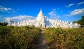 Panorama Of Hsinbyume Pagoda, Mingun, Mandalay, Myanmar