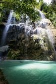 stock photo of cebu  - Beautiful waterfall in Oslob  - JPG