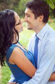 Joyful Couple Sharing A Romantic Intimate Moment
