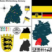Map Of Baden-wurttemberg, Germany