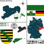 Map Of Saxony, Germany