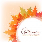 Abstract Autumn Leaves Background Eps10