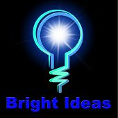 Light Bulb Indicates Ideas Innovations And Thoughts