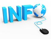 Internet Info Represents World Wide Web And Globalize