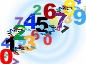 Maths Counting Means Numerical Number And Template