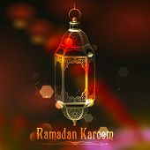 image of eid ka chand mubarak  - illustration of Ramadan Kareem  - JPG