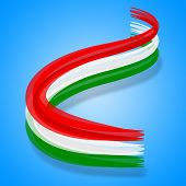 Flag Hungary Represents Patriotism National And Nationality