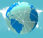 World Globe Indicates Travel Guide And Worldwide