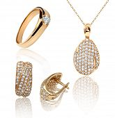 foto of jewelry  - Best jewelry pendant and earrings set - JPG