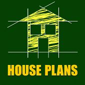 Plans House Shows Household Drafting And Homes