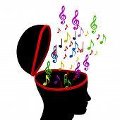 Notes Education Represents Sheet Music And Crotchets