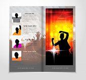 Template music event magazine. Vector