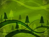 Tree Background Indicates Nature Backdrop And Meadows