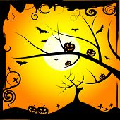 Sun Tree Means Trick Or Treat And Branch
