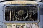 Front Grill Of Old Rusted Truck